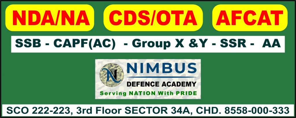 Best 10 NDA Coaching Institutes in Chandigarh with fees & SSB interview